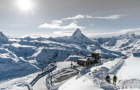 Station Gornergrat im Winter